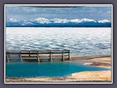 Black Pool direkt am Lake Yellowstone