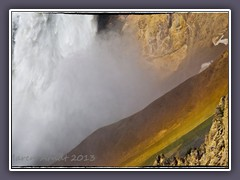 Dicht dran am Lower Fall of the Yellowstone